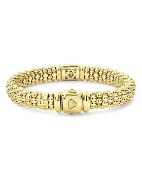 LAGOS - 18K Yellow Gold Caviar Gold Pavé Diamond Bracelet