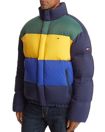 d6844bdcc Tommy Jeans Oversized Color-Block Puffer Jacket | Bloomingdale's