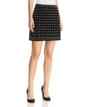 Kobi Halperin Arlena Beaded Velvet Mini Skirt