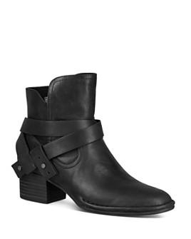 UGG® - Women's Elysian Round Toe Leather Mid-Heel Booties