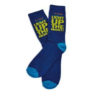 Rite Lite Chanukah Light Up The Night Unisex Crew Socks