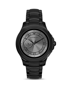 Emporio Armani Tech - Black Stainless Steel Touchscreen Smartwatch, 46mm