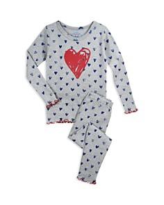 Sara's Prints Girls' Heart Pajama Shirt & Pants Set - Little Kid - Bloomingdale's_0