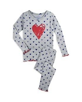 Sara's Prints - Girls' Heart Pajama Shirt & Pants Set - Little Kid
