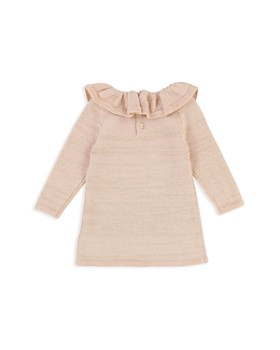 Chloé - Girls' Ruffle Collar Metallic Thread Knit Dress - Baby