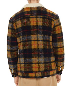 Scotch & Soda - Teddy Faux Shearling-Trimmed Plaid Trucker Jacket