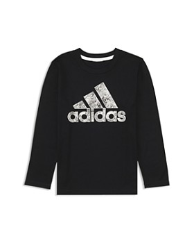 Adidas - Boys' Printed-Logo Tee - Little Kid