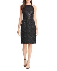 Eliza J - Sequin & Petal Appliqué Dress