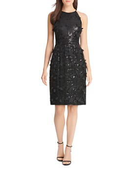 Eliza J - Sequin & Petal Appliqué Dress