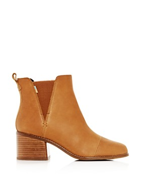 TOMS - Women's Esme Leather Block-Heel Booties