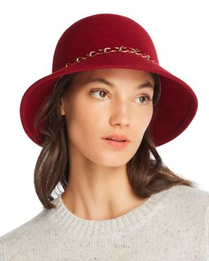 August Hat Company Feelin It Chain-Trim Wool Cloche