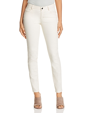 Lafayette 148 New York Mercer Skinny Jeans in Ecru