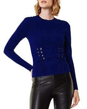 KAREN MILLEN - Lace-Up Sweater