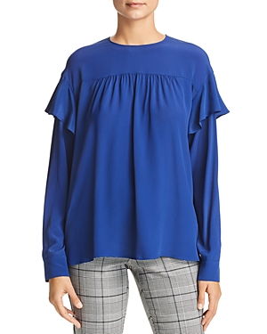 Marella Doge Shirred Ruffled Top