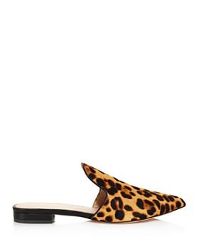 Rachel Zoe - Women's Natalie Leopard Print Calf Hair Mules