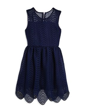 Bardot Junior Girls' Scalloped Spiral Lace Dress - Little Kid