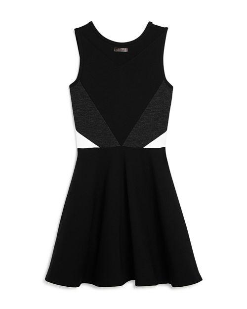 Sally Miller Girls Cassie Color Block Dress With Mesh Cutout Big