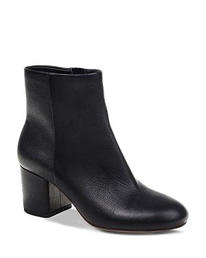 Splendid Women's Nixie Leather Block Heel Booties