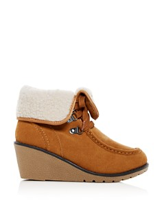 Khombu - Women's Sienna Waterproof Cold-Weather Wedge Booties