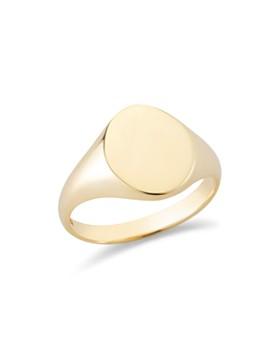 MATEO - 14K Yellow Gold Signet Ring
