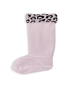 Hunter - Girls' Leopard Print Cuff Boot Socks - Little Kid, Big Kid