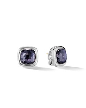 David Yurman - Albion Stud Earrings in Sterling Silver with Gemstones