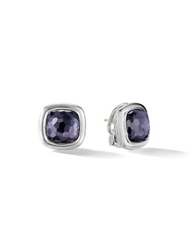 David Yurman - Albion Stud Earrings in Sterling Silver with Black Orchid
