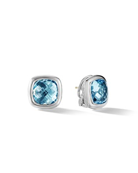 David Yurman - Albion Stud Earrings in Sterling Silver with Sky Blue Topaz
