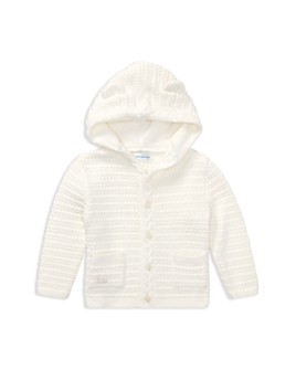 Ralph Lauren - Unisex Hooded Cotton Cardigan with Bear Ears - Baby