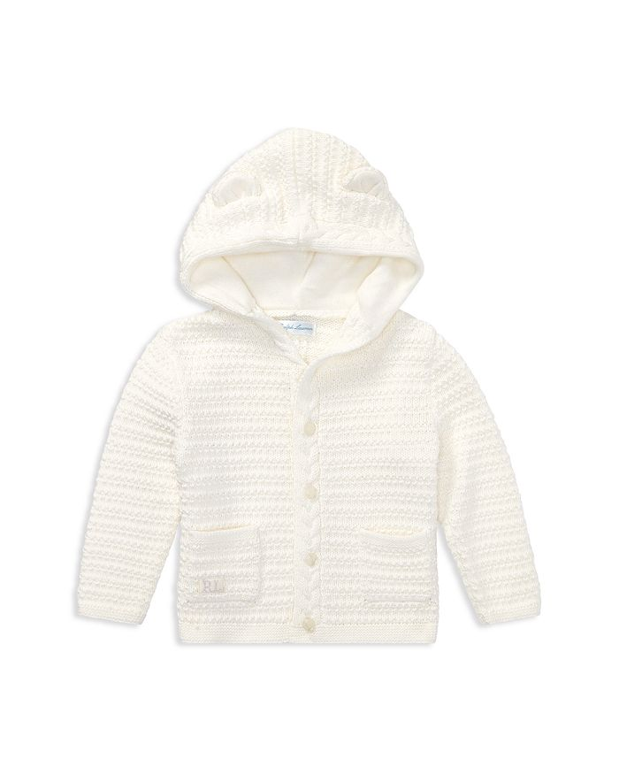Ralph Lauren - Unisex Hooded Cotton Cardigan with Bear Ears - Baby