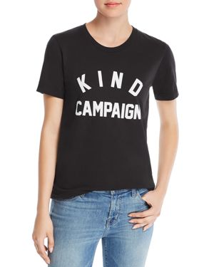 KID DANGEROUS Girl Dangerous Kindness Collegiate Tee in Black
