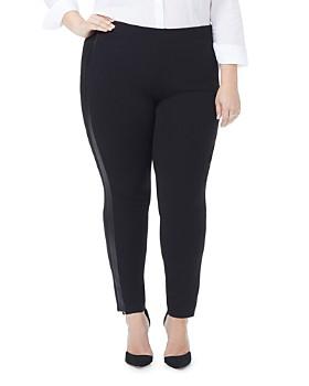 NYDJ Plus - Faux-Leather Stripe Leggings