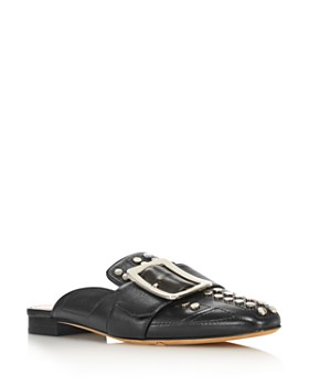 Bally - Women's Janesse Almond Toe Studded Leather Mules