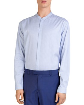 The Kooples - Blurred Brezza Mock-Neck Button-Down Shirt