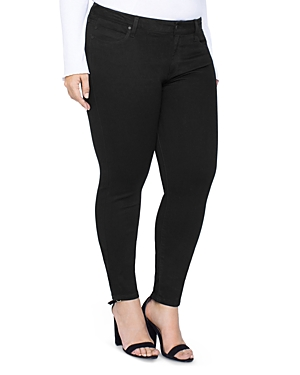 Liverpool Plus Abby Skinny Jeans in Black Rinse