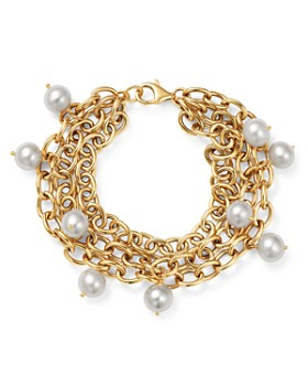 Bloomingdale's - Cultured Freshwater Pearl Triple Strand Bracelet in 14K Yellow Gold - 100% Exclusive