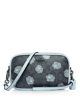 COACH - Rose Print Convertible Crossbody Clutch