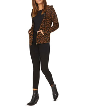 Sanctuary - Zip Me Up Leopard Print Hoodie