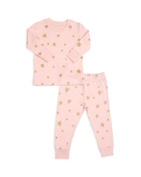 Tun Tun - Girls' Shimmer Star-Print Pajama Shirt & Pants Set - Baby