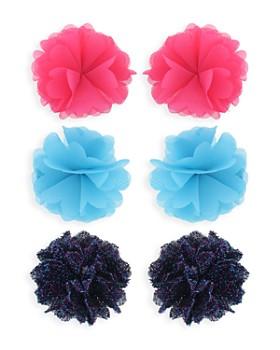 Capelli - Girls' Mesh Flower Hair Clips, Set of 6