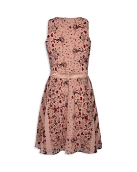BCBGirls - Girls' Georgette Floral Chiffon Dress - Little Kid