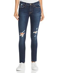 FRAME - Le Skinny De Jeanne Distressed Jeans in Wriley