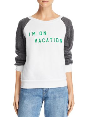 Wildfox I'm On Vacation Color Block Sweatshirt