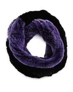 Maximilian Furs - Knit Rabbit Fur Infinity Scarf - 100% Exclusive