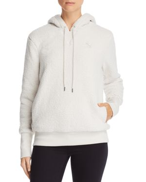 Women'S Sherpa Downtown Pullover Hoodie, White