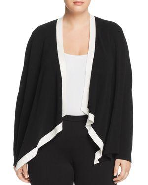 Eileen Fisher Plus Draped Open Cardigan