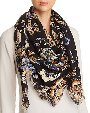 ecf5566c0fbb Tory Burch - Happy Times Oversized Floral Print Scarf
