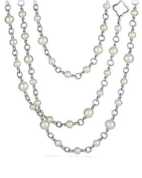 David Yurman - Bead Necklace with Cultured Freshwater Pearls
