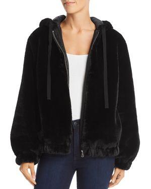 La Vie Rebecca Taylor Faux-Fur Hooded Bomber Jacket