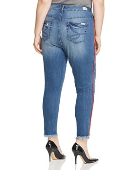 Seven7 Jeans Plus - Piped-Trim Raw-Hem Ankle Jeans in Reeves
